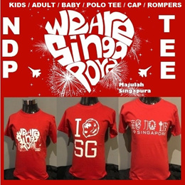 I LOVE SINGAPORE SG NATIONAL DAY NDP SINGLISH T SHIRT SOUVENIR ADULTS KIDS BABY ROMPERS TEE FAMILY