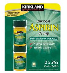 ★ 1 + 1 ★ Kirkland Signature Aspirin 81mg 365x2 Bottle ★ Free Shipping ★