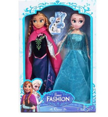 Disney Frozen Snow Romance Barbie Doll Aisha and Anna Single Pack Gift Set