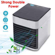 🌟Super Deal🌟Air Cooler Fan Mini USB Cooling Portable Air Conditioner Humidifier Purifier 3 Speeds