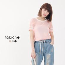 TOKICHOI - Striped Cuffs Top-6019180