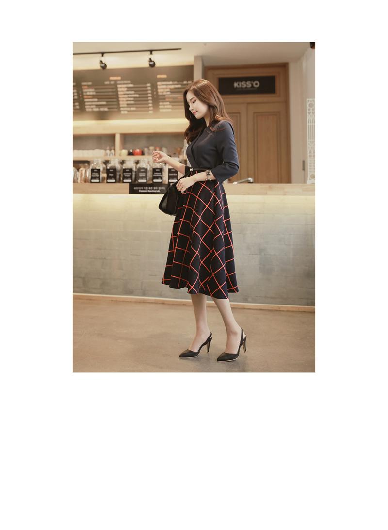 ドレス ワンピース 大きいサイズ 小さいサイズ Vネック フレア ロング リジェスクエアワンピース
