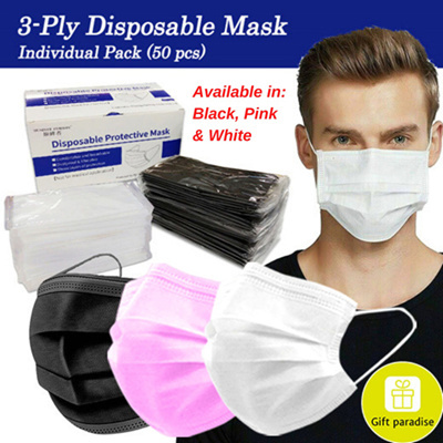 3-Ply Disposable Face Masks / Individual Pack
