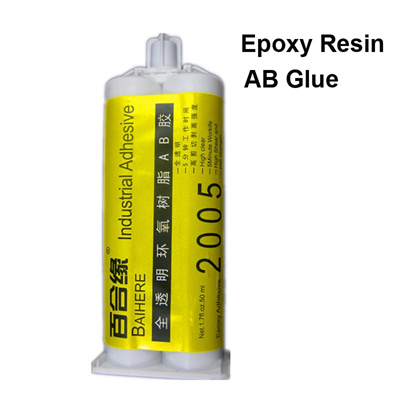 50ML Liquid Epoxy Resin AB Glue Metal Fabric Wood Glass Jewelry Industrial  Adhesive Stationery Store