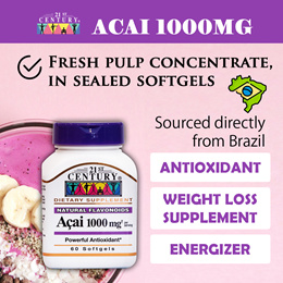 [21st Century] Acai 1000mg (60s) Weight Loss Supplement from Brazil