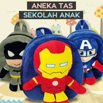 ANEKA Tas Ransel Sekolah Anak TK dan PAUD Boneka Timbul KARAKTER Deals for only Rp100.000 instead of Rp100.000