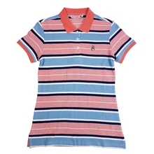 HUSH PUPPIES LADIES STRIPE POLO |COTTON|  #HLP988678MULTI/HLP927441MULTI