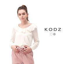KODZ - Ruffle Collar Blouse-180158
