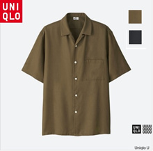 [Japan] Uniqlo U Mens Uniqlo U Mens Open Color Shirt Shirt Short Sleeve (Short Sleeve) 197622 XL-2XL Big Size Shirt