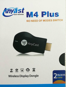 LATEST! EzCast Anycast Miracast M4 Plus (User Friendly) Chromecast TV stick Google HDMI Dongle
