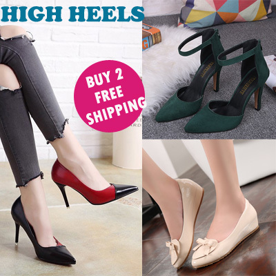 UPDATE! lady heels high heel shoes wedges women fashion sandals OL shoes Deals for only S$39.9 instead of S$0