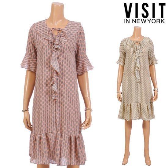 ・ビジット・インニューヨークリーフラブリーボーンVネクワンピースVTEOP05 面ワンピース/ 韓国ファッション