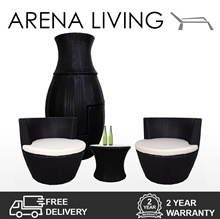 Stackable Coffee Table and Chair Set   Outdoor Furniture   2 YEAR WARRANTY   ARENA LIVING™