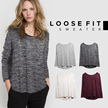 New Collection Women Loosefit Sweater - 2 Models - Basic Sweater - Baju Wanita - Good Quality