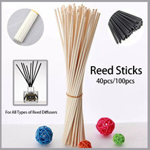 ★Wholesale Reed Sticks For Use With All Aroma Reed Diffusers★[40pcs/100pcs Reeds] Rattan/Black/White