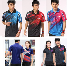 Badminton table tennis jersey top shirt butterfly Men and Lady