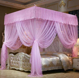 Lace Princess Bed Canopy Netting Bed Mosquito Net Princess Bedding for 4 Size 5 Color No Frame