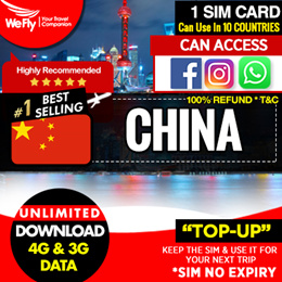 China sim card:( China Unicom ) 3.6GB of 4G highspeed + unlimited data  .100%can whatsapp fb google
