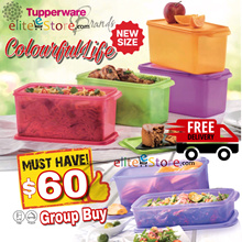 Tupperware FRIDGE FREEZERMATEs Square Round Cool Stacker Set Keep foods Fresh Save space Storage