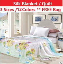 [FREE SHIPPING] Natural Silk blanket / quilt / 3 size / summer quilt / air con quilt / blanket
