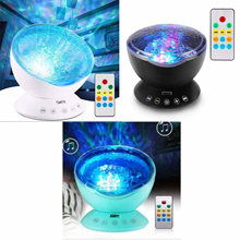 Ohuhu Sea Wave Ocean Wave Night Light Projector 12LED 7 Color Change Arin Yi Gift Mood Light Mixed Color