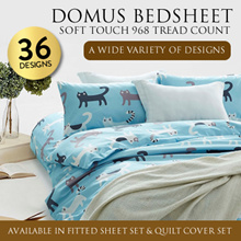 DOMUS Soft Touch 968 Thread Count Fitted Bed sheet Set  OR  Quilt Cover Set / 36 DESIGN