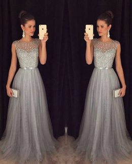 Lace Formal Dress Backless Prom Chiffon Dresses Long Sleeves Dress Bridal Dress