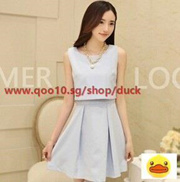 71f4277404e2 Quick View Window OpenWish. rate new. Korean version of the small fragrant  wind Slim lady temperament skirt sleeveless dress ...