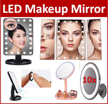 CA*LED Makeup Mirror Brightness Adjust Light Make Up Cosmetic Organizer Adjustable Beauty Accessorie