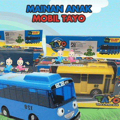 Mainan Anak Mobil Tayo Lani/Gani/Rogi/Tayo And Garage Sliding Pullback Tayo Deals for only Rp55.500 instead of Rp55.500