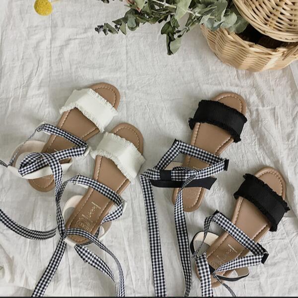 sepatu sandal Kaki musim panas sandal wanita Deals for only Rp133.200 instead of Rp133.200