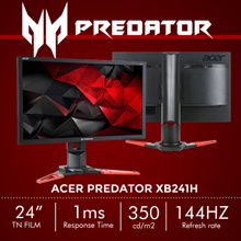 Predator XB241H 24 Inch Full HD TN Film Gaming Monitor with NVIDIA G-Sync