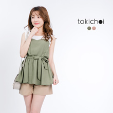 MAYUKI - Sweet Heart Top with Tie Waist-6010709