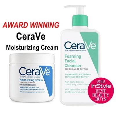 CeraVe [AWARD WINNING ECZEMA CREAM] CeraVe Moisturizing Cream 16 oz (453 g)  for Normal to Dry Skin /Foamin