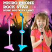 Mic Microphone Mobile Phone Music MP3 With Light / Micro Phone Rock Star Lampu 8014A ( Pink / Blue )