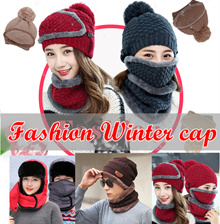 winter cap/scarf/mask 3 in1 Villus warm cap men women cap/mask glove/winter sock with  free shipping