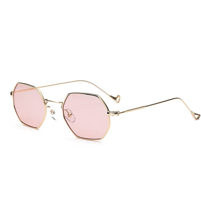 afe7e80d4e9 online Fashion Women Sunglasses Small frame polygon Clear lens Sunglasses  Brand Designer Men vintage