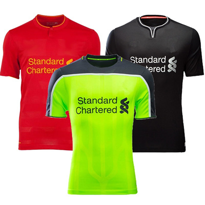 sports shoes e4945 796f6 16-17 Liverpool Home and Away Jersey Short Sleeves Football Suit