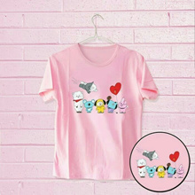 Women s Short Sleeve Tumblr Tee BT21  Pink