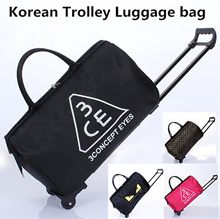 Trolley bag!  Luggage bag!  Large capacity package!  Waterproof folding travelling bag! boarding bag