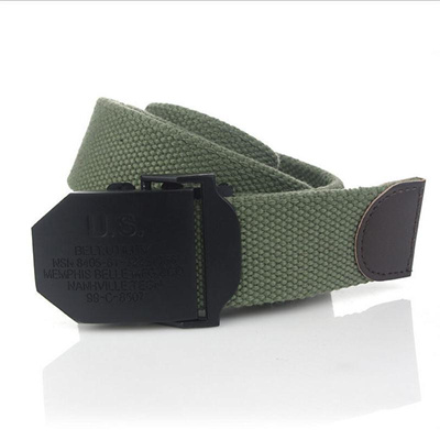 shop SupSindy U S mens Canvas belt Black Alloy buckle military belt Army  tactical belts for Male top