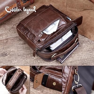 a0cd91b943 sale Cobbler Legend Brand Designer Men s Shoulder Bags Genuine Leather  Business Bag 2016 New High