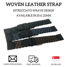Woven Leather Strap in 20mm and 22mm - (Free Local Postage)