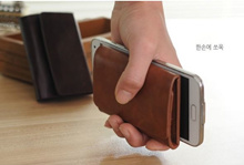 Stable Money Clip Slim Small Leather Wallet/ Bag Type E