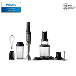 |NEW| Philips ProMix HandBlender includes whisk, XL chopper, on-the-go tumbler, spiralizer HR2657
