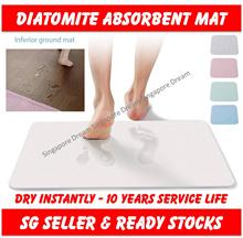 Diatomite Earth Absorbent Fast Drying Bath Floor Mat Non slip Antibacterial For Bathroom  Shower
