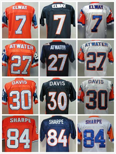best loved 4163f d2b9d Cheap Men' s Authentic #7 John Elway #27 Steve Atwater #30 Terrell Davis  #84 Shannon Sharpe Throwback Football Jersey