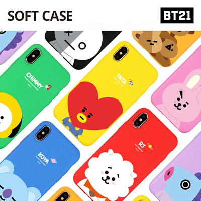 【BT21 x LINE FRIENDS】 BTS BangTan iPhone Galaxy Soft Case GIFT!