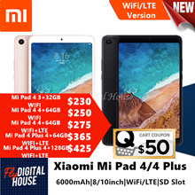 Xiaomi Mi Pad 4/4Plus WiFi/LTE 8/10.1Inch 1920*1200FHD Screen Snapdragon 660|Export Set|Google Play