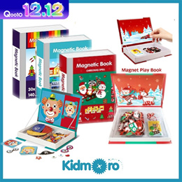 [KIDMORO] Magnetic Puzzle Playbook Educational Toys/Puzzle
